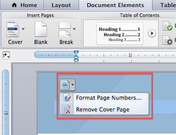 How to delete a cover page in word for mac brian rants format page numbers and remove cover page ccuart Choice Image